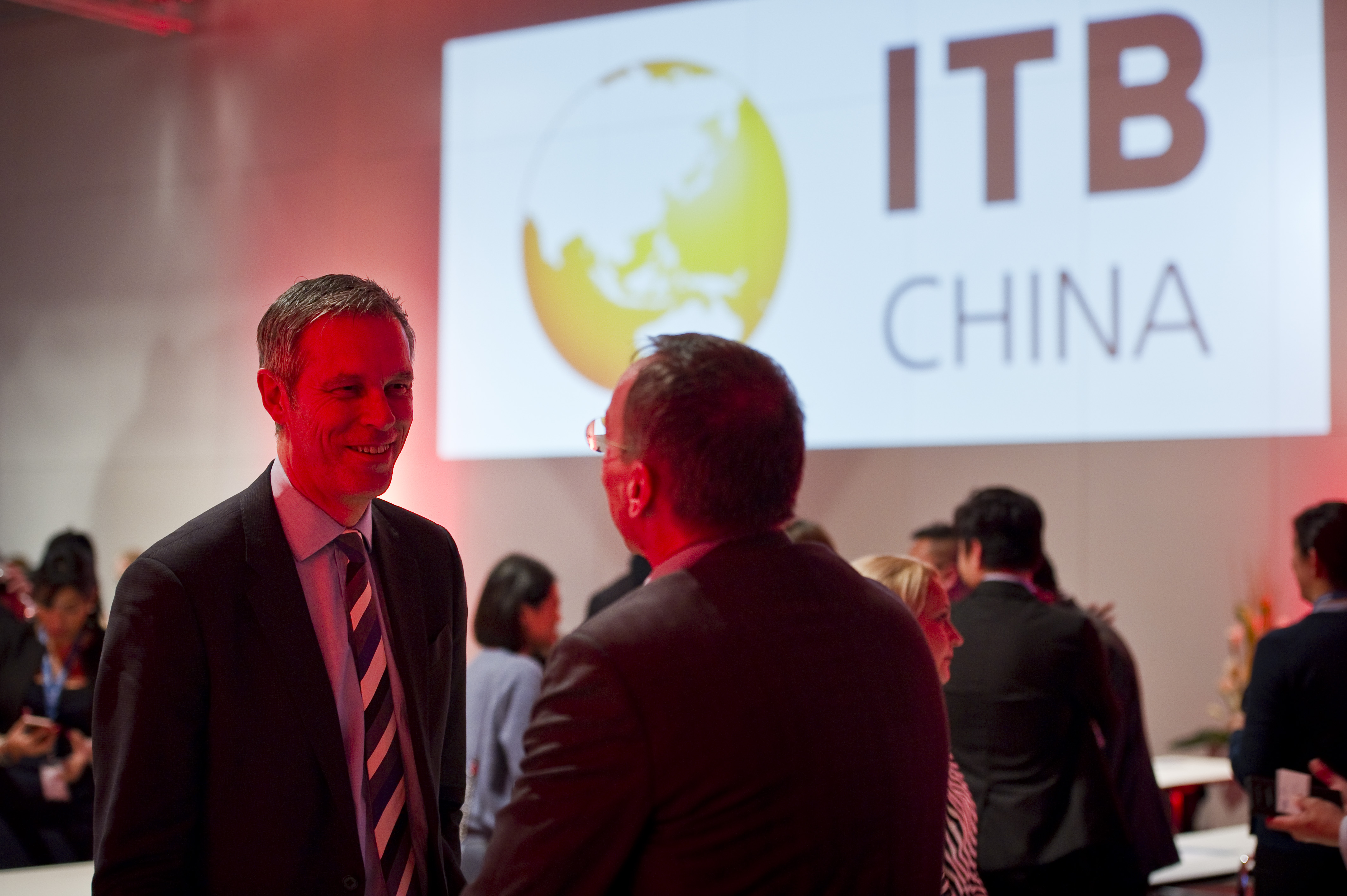 Mr. Griffin and Mr. Buck at the ITB China Preview Event 2018